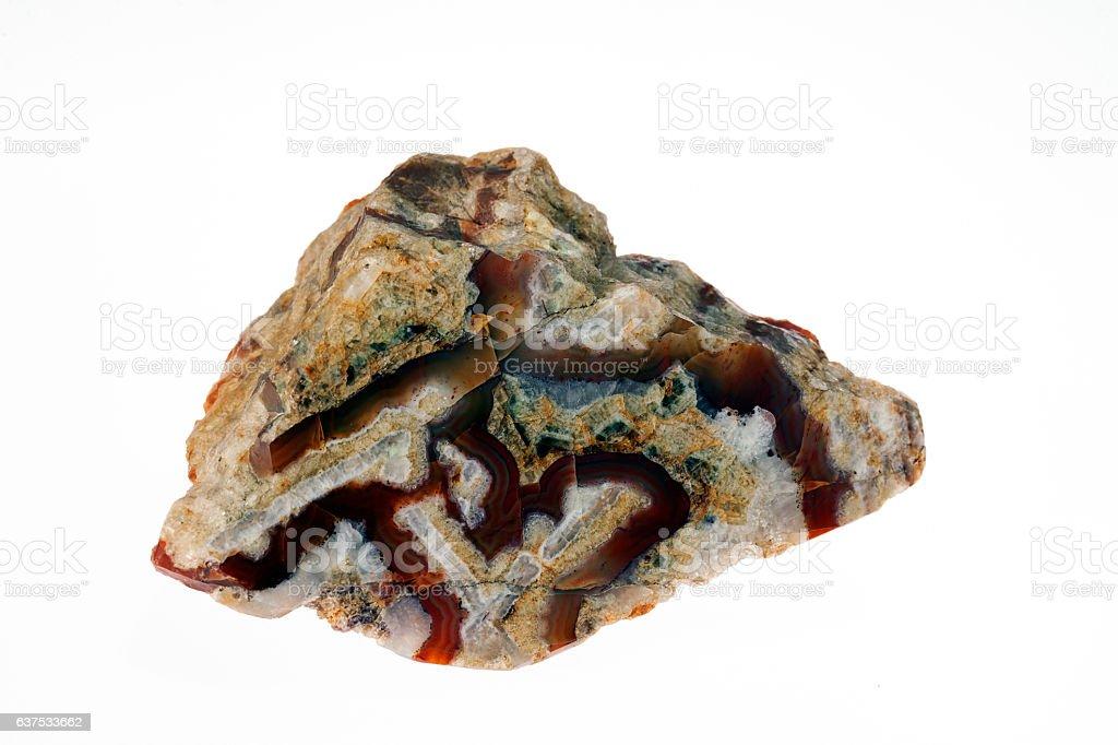 carnelian crystal stock photo