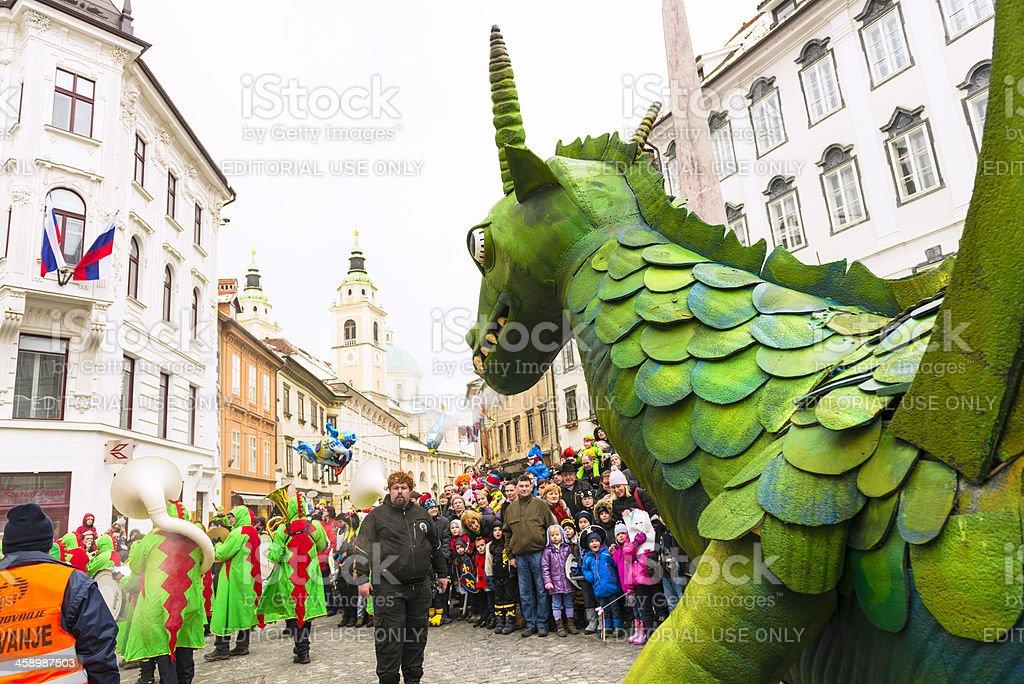 Carneval in Ljubljana stock photo
