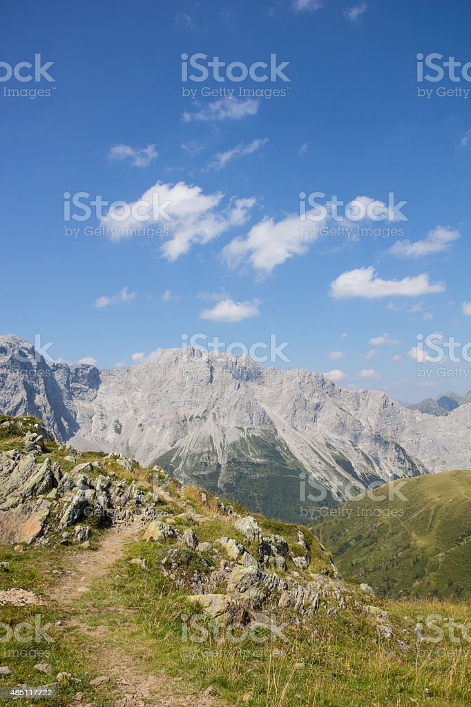 Carnic Alps View From Geo Trail Wolayersee In Lesachtal stock photo