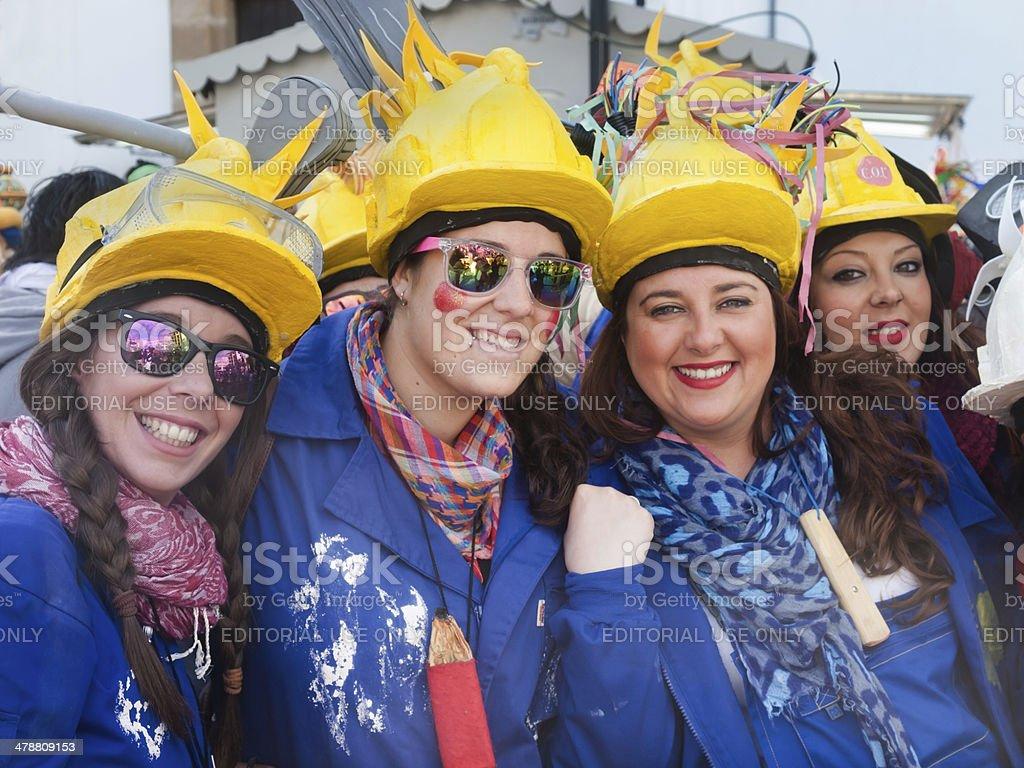 Carnival Algeciras, Cadiz 2014 stock photo