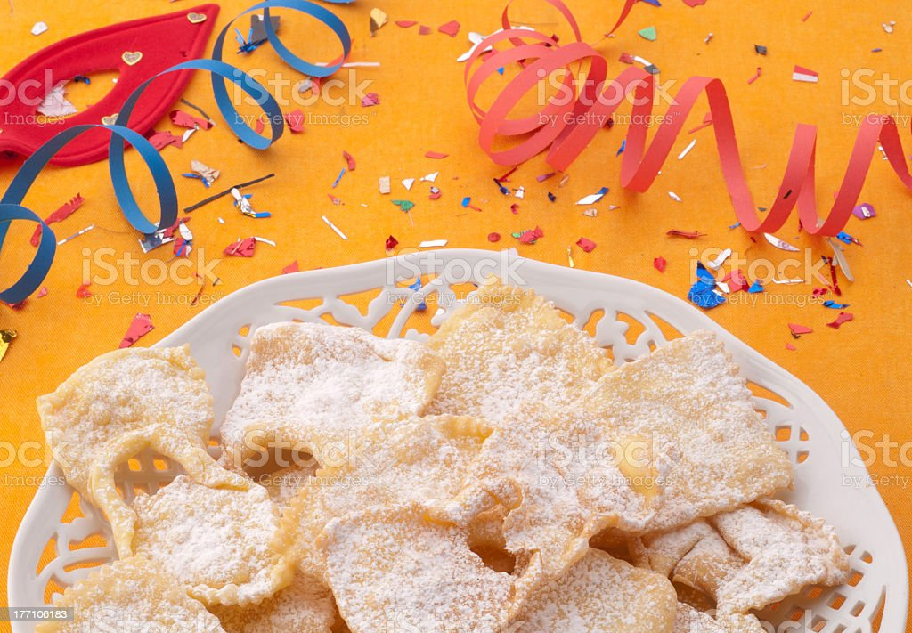 Dolce di carnevale, frappe royalty-free stock photo