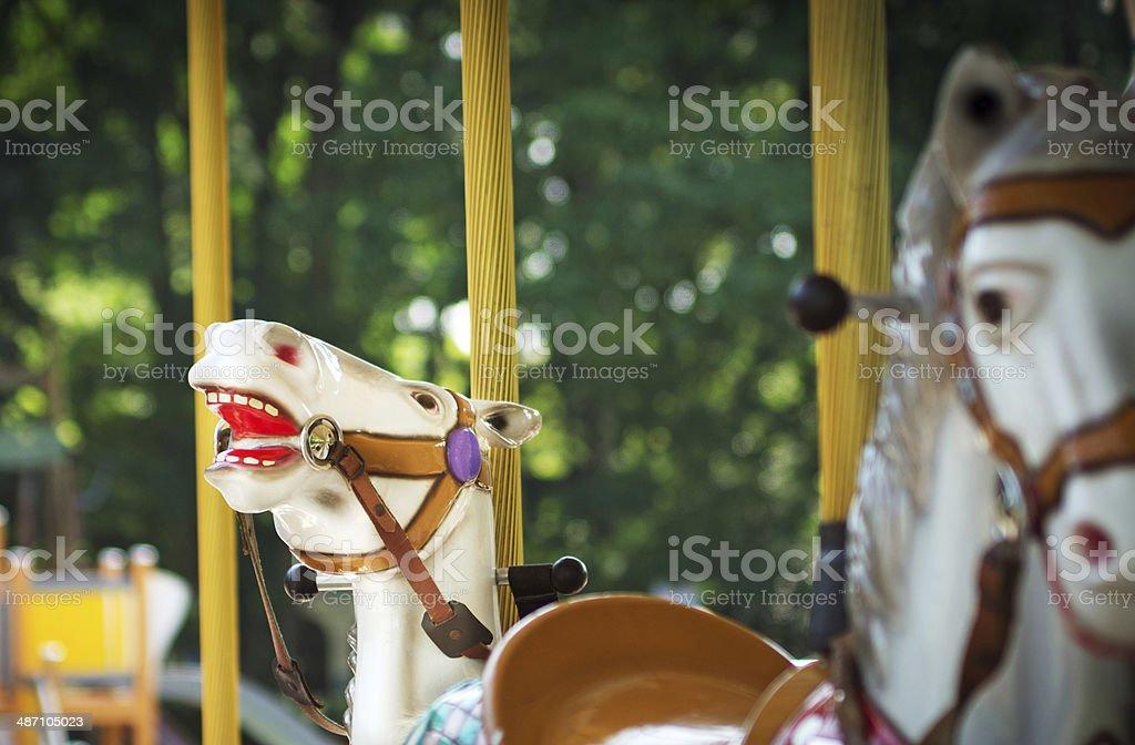 Carnival carousel horses royalty-free stock photo
