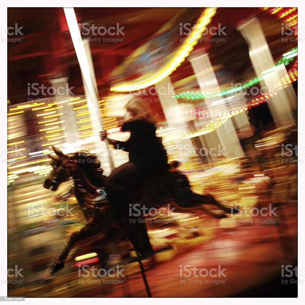Carnival Carousel royalty-free stock photo