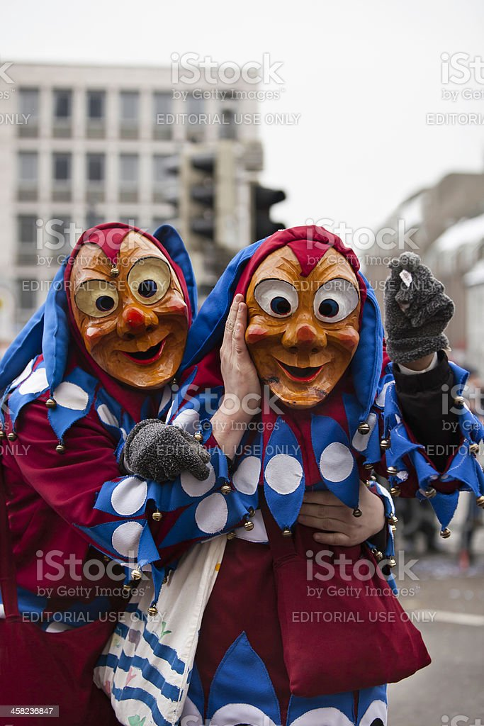 Carnival celebration in Freiburg, Germany 2013 stock photo