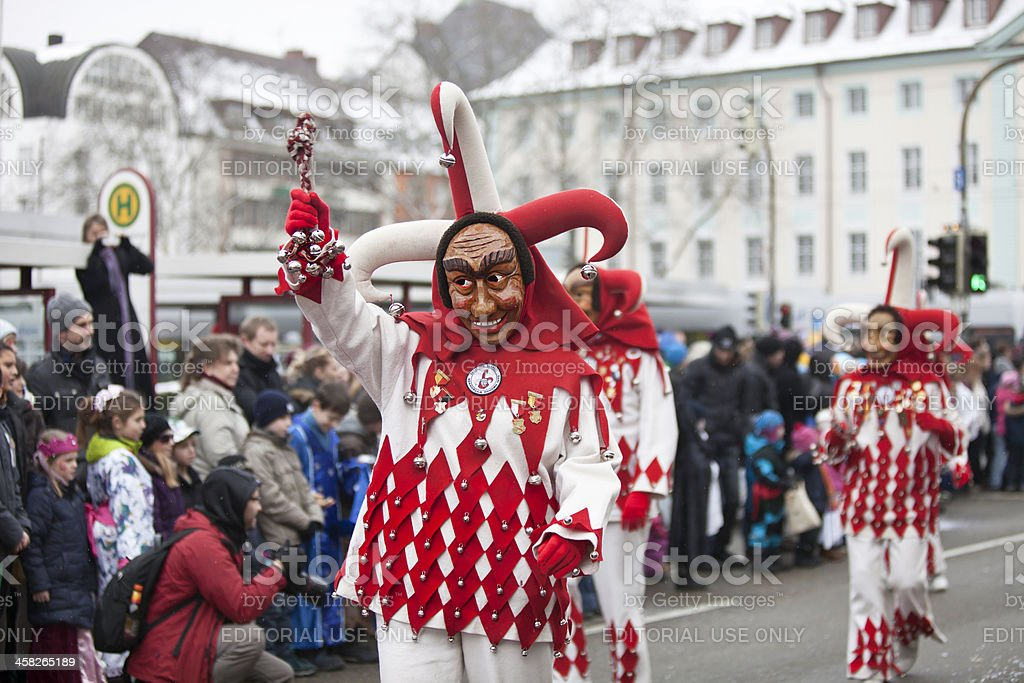 Carnival celebration in Freiburg, Germany royalty-free stock photo