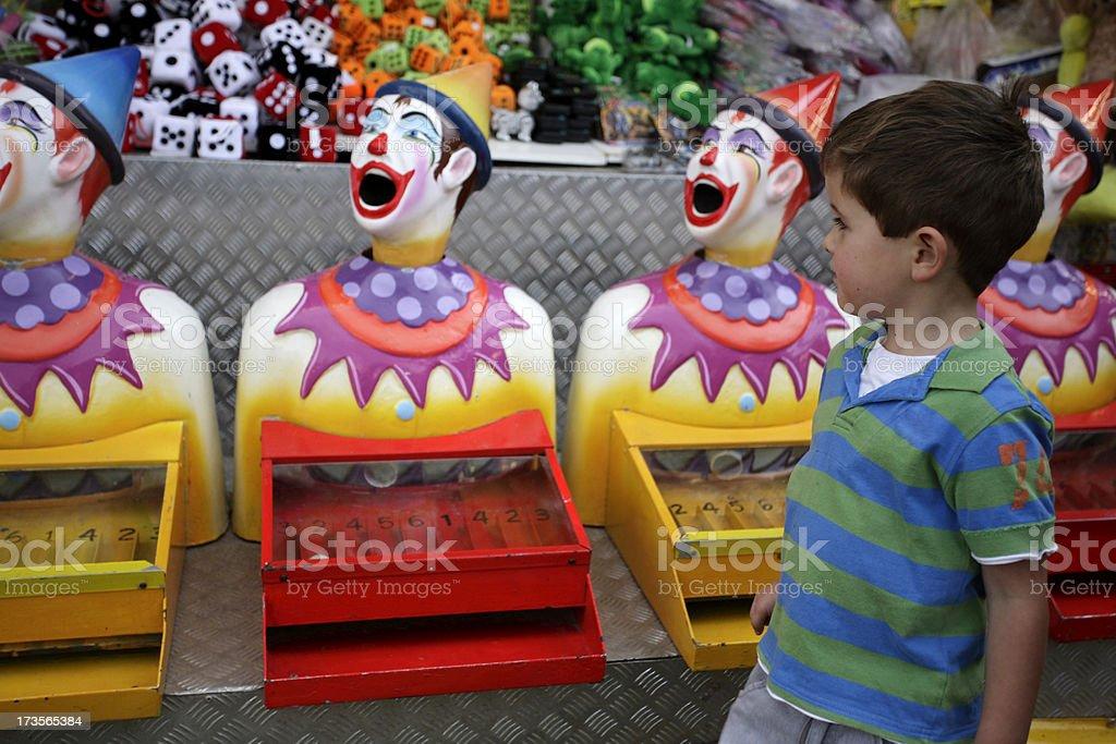 Carnival Clowns stock photo