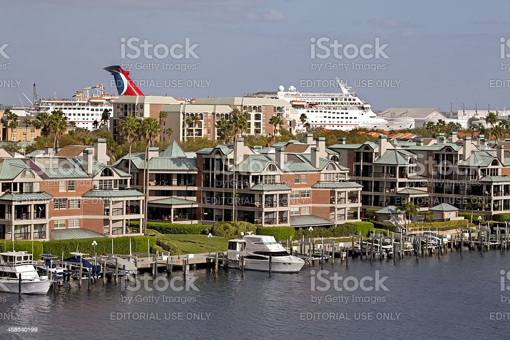 Carnival Cruise leaving port stock photo