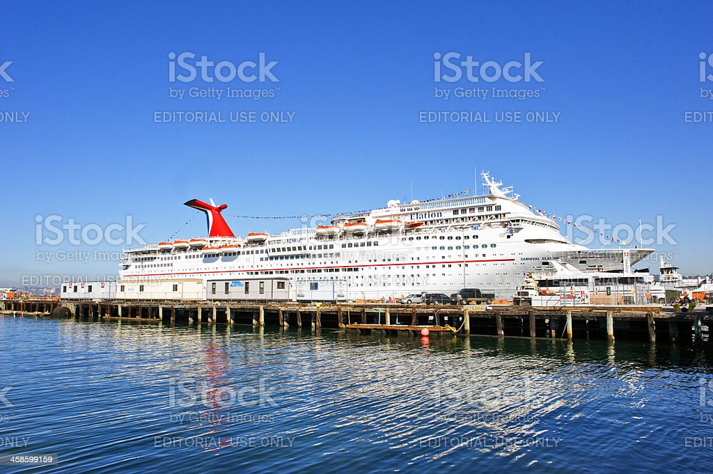 Carnival Cruise Ship Elation royalty-free stock photo