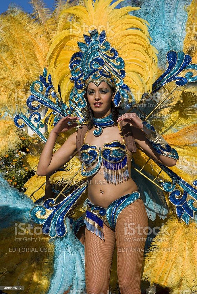 Carnival dancer royalty-free stock photo