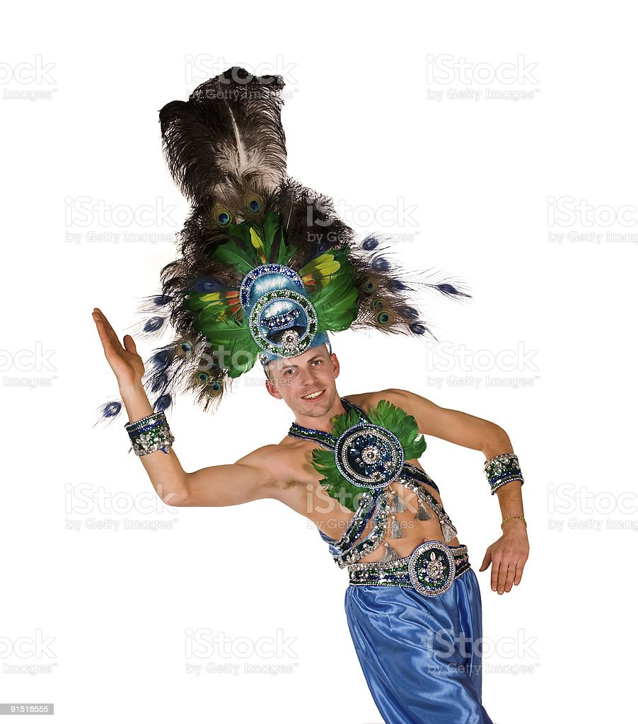 Carnival dancer royalty-free stock photo