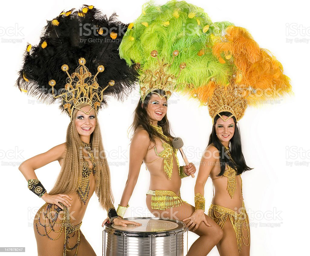 Carnival dancers royalty-free stock photo