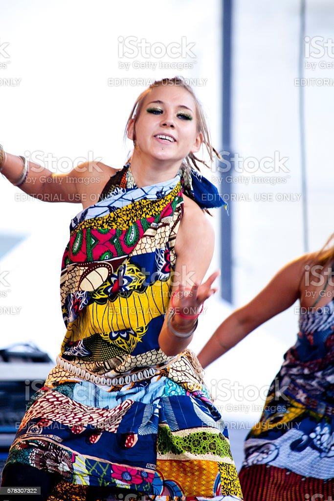 Carnival dancers stock photo