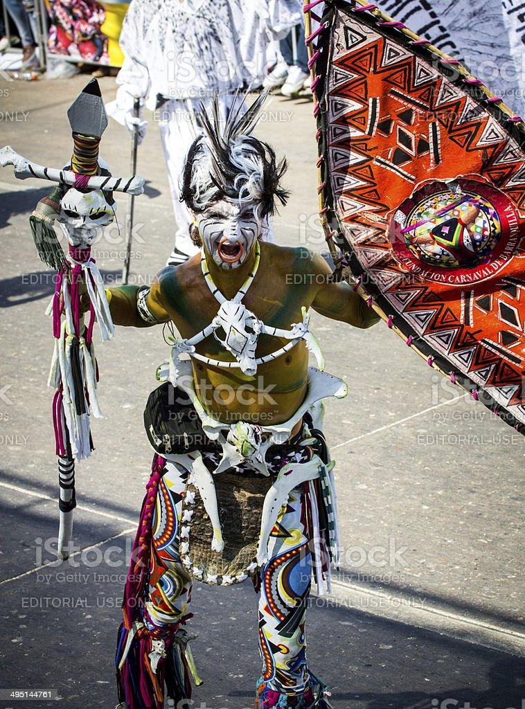 Carnival De Barranquilla royalty-free stock photo