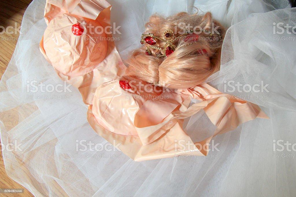 carnival dress as princess stock photo