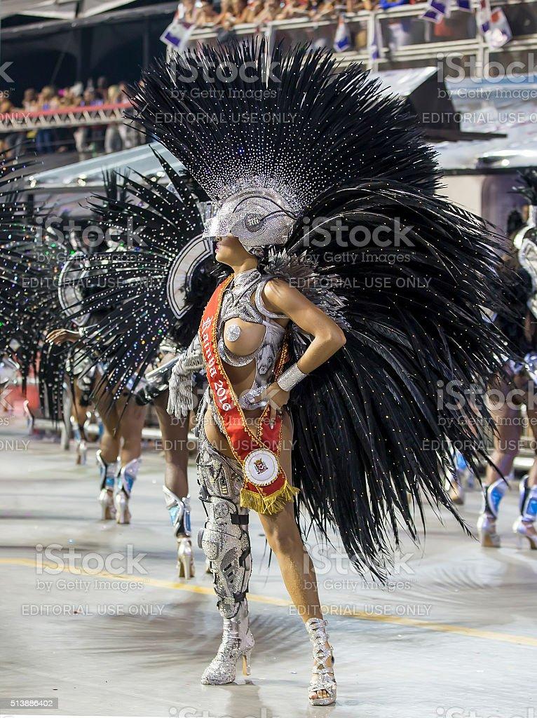 Carnival Drum Queen Veronica Bolani Brazil stock photo