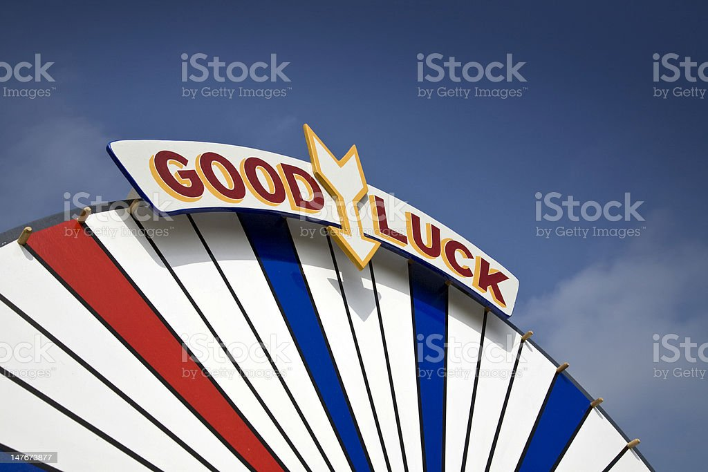 Carnival Fairground Good Luck Sign stock photo