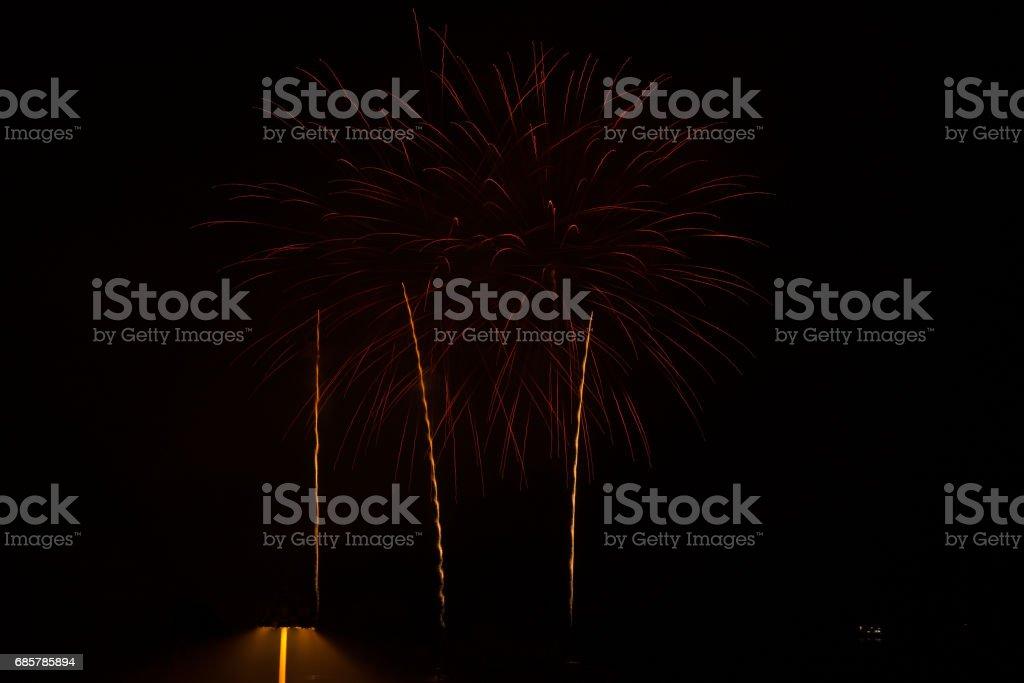 Carnival Fireworks in Patras, Peloponnese, Greece stock photo
