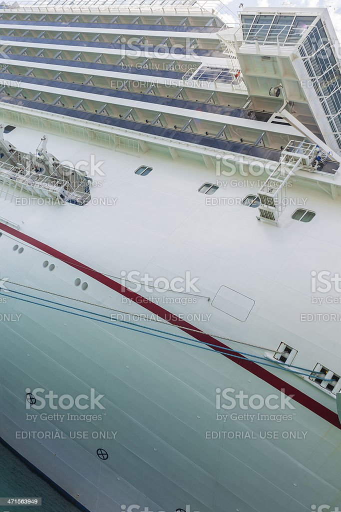 Carnival Freedom cruise liner on moorage in Key West royalty-free stock photo