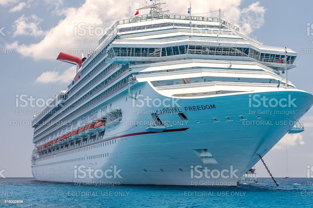 Carnival Freedom Cruise Ship stock photo