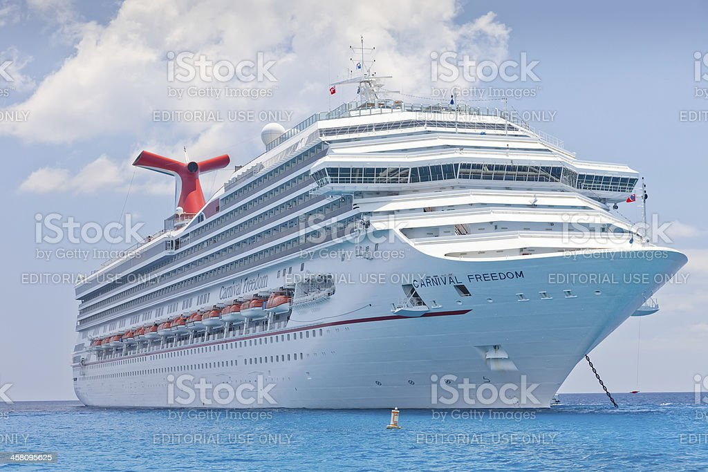 Carnival Freedom in Cayman Islands for a day of fun stock photo