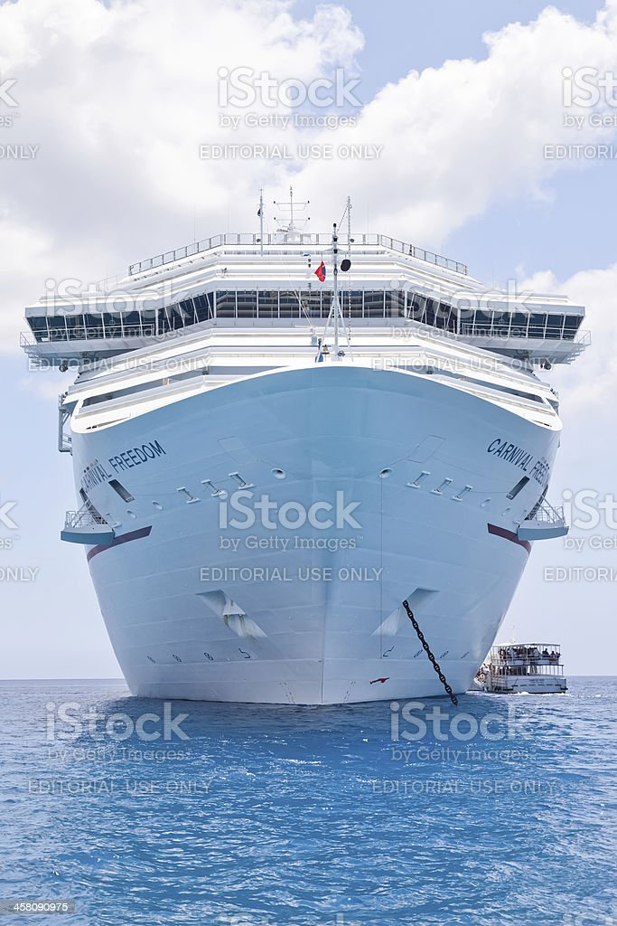 Carnival Freedom in the Cayman Islands stock photo