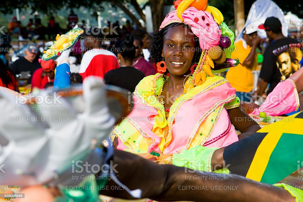 carnival fruit and vegetables stock photo
