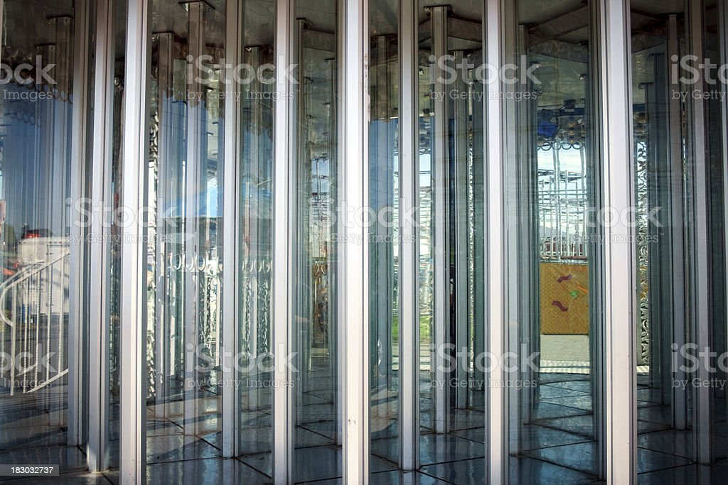 Carnival funhouse hall of mirrors stock photo