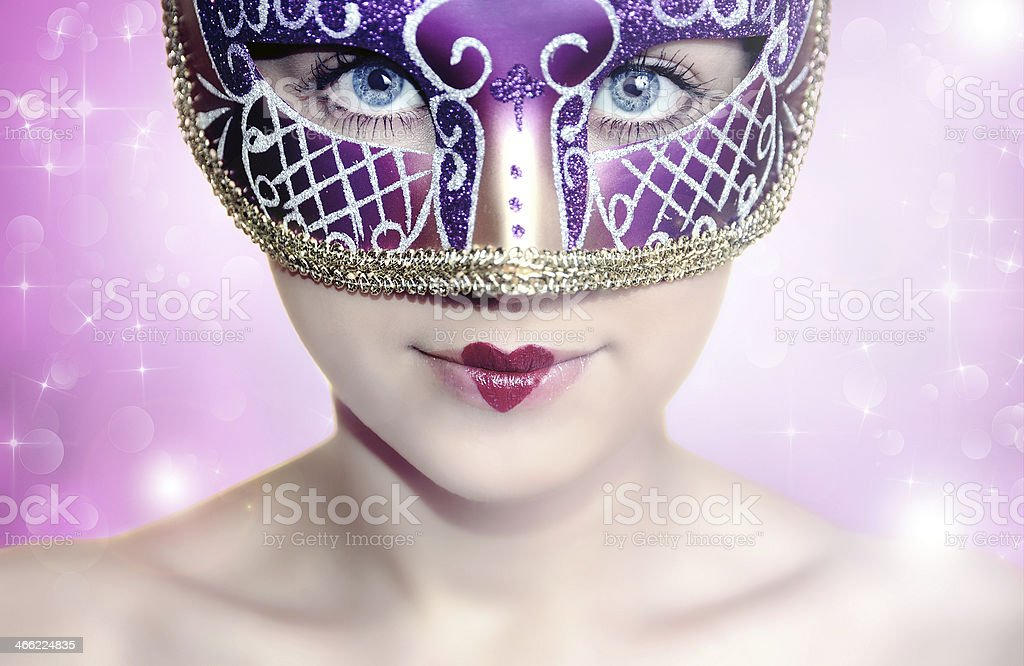 Carnival girl royalty-free stock photo
