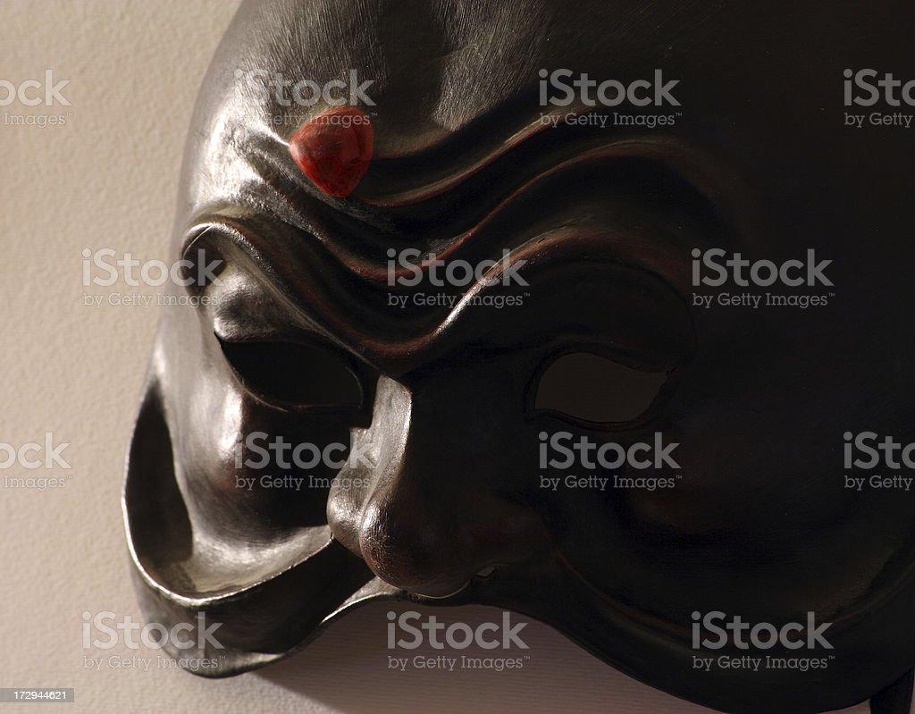 Carnival Harlequin mask stock photo