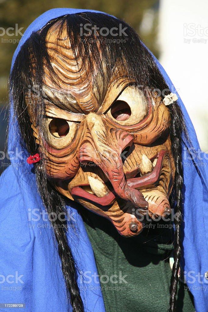 carnival horror mask stock photo