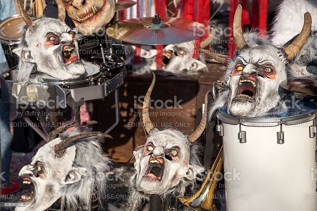 Carnival in Basel, Switzerland stock photo