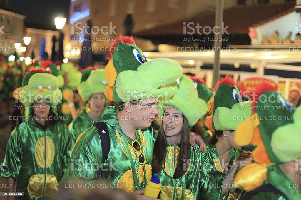 Carnival in Cres, Croatia royalty-free stock photo