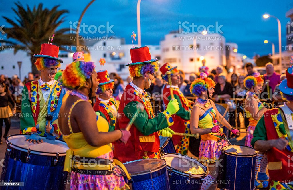 Carnival in Lanzarote stock photo