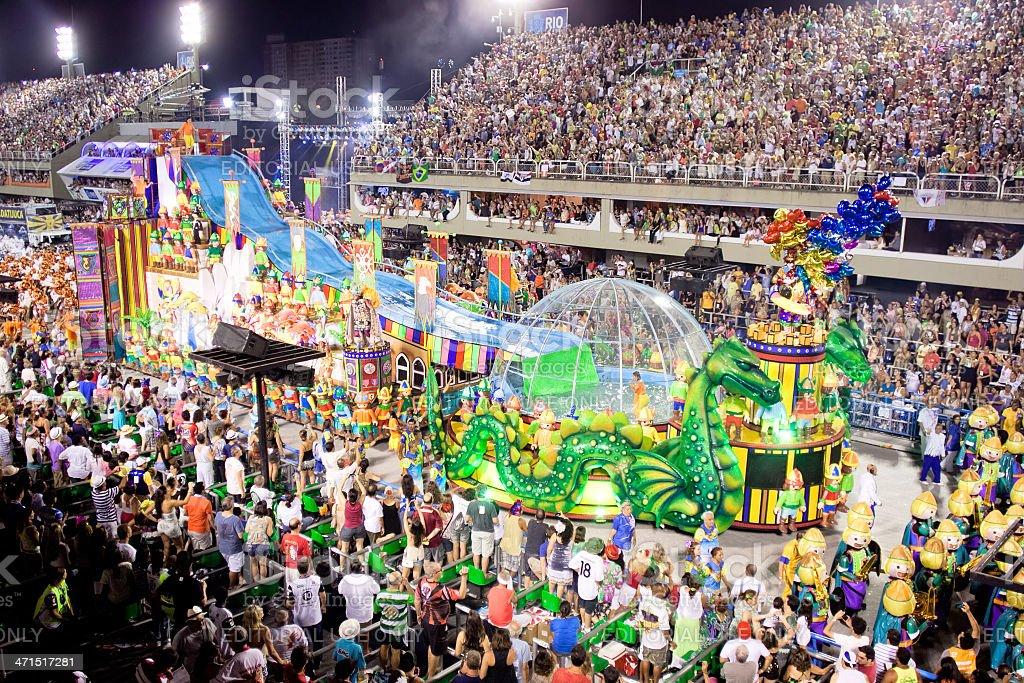 Carnival in Rio de Janeiro 2013 stock photo