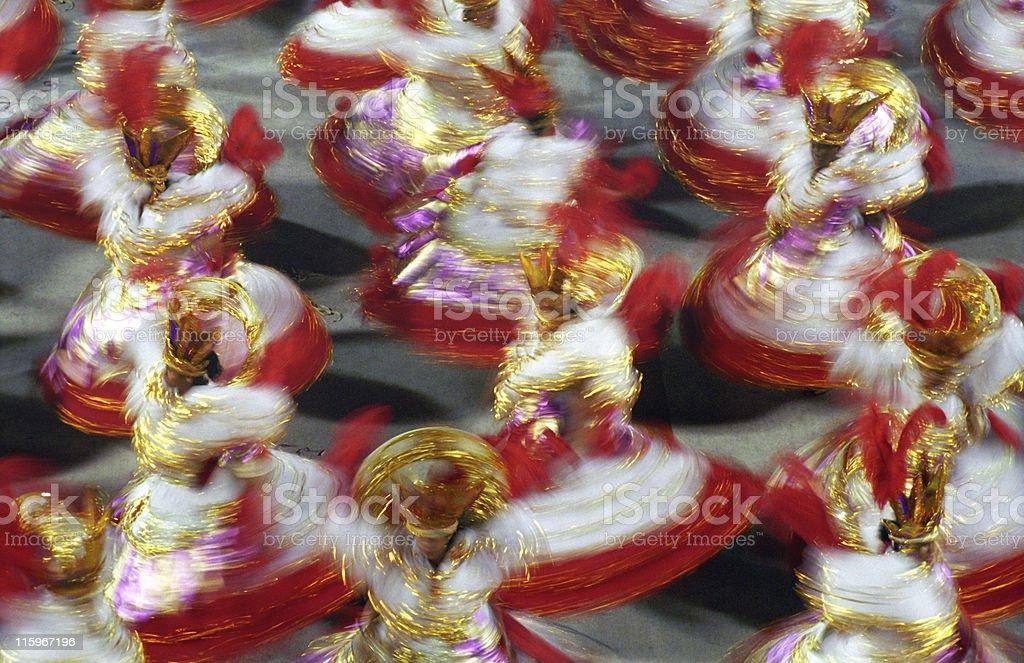 Carnival in Rio de Janeiro - Baianas royalty-free stock photo