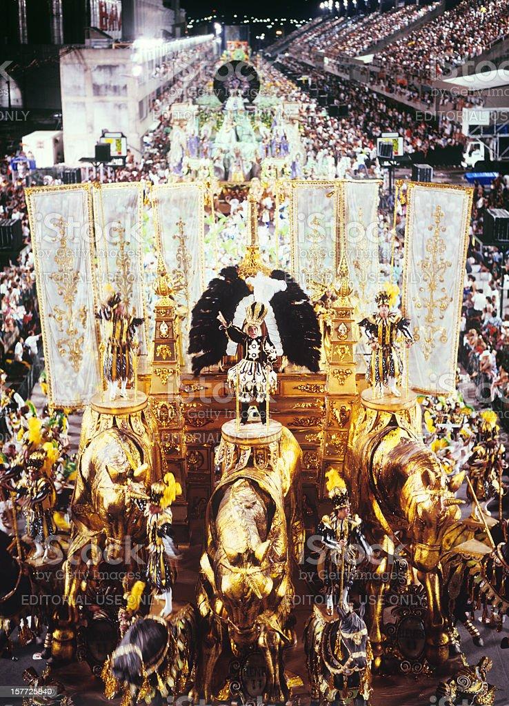 Carnival in Rio de Janeiro - Sambodromo royalty-free stock photo