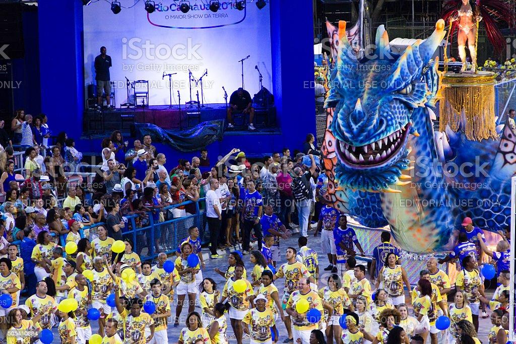 Carnival in Sambadromo in Rio de Janeiro stock photo