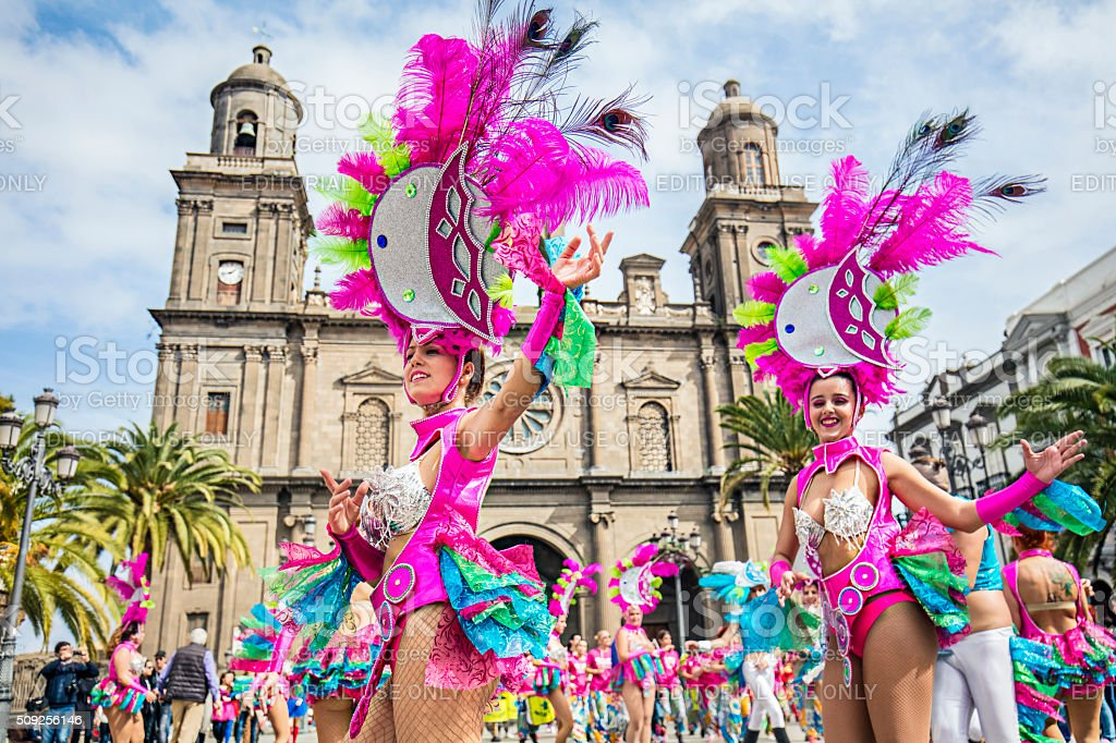 Carnival in the Canary Island stock photo
