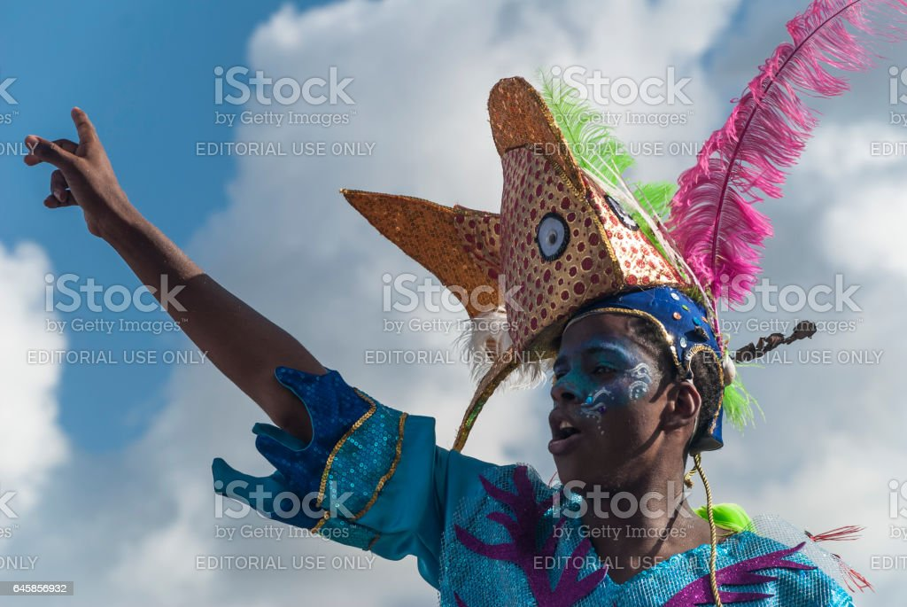 Carnival in the Caribbean stock photo