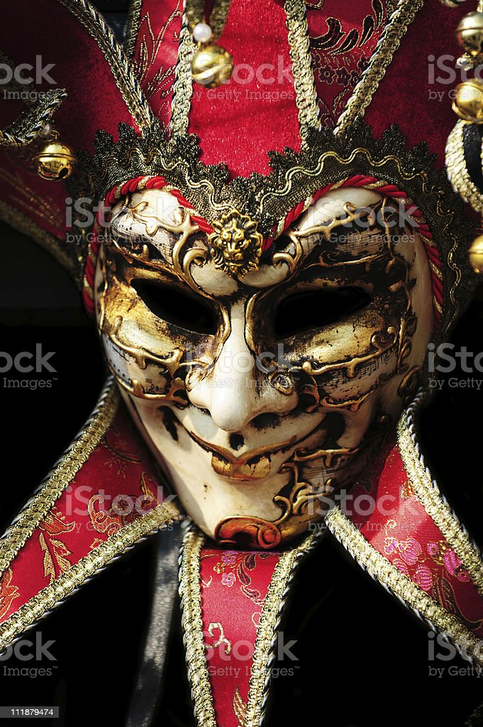 Carnival Joker Jester Mask stock photo