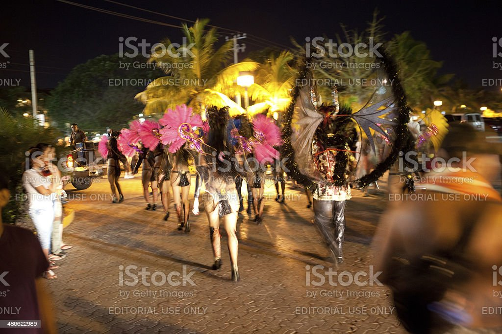 Martes de Carnaval , Mardi Gras Parade in Mexico royalty-free stock photo