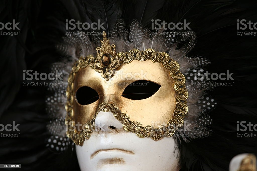 carnival mask: black white royalty-free stock photo