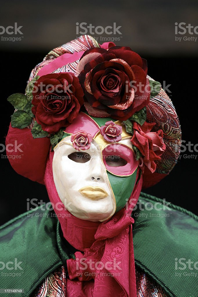 carnival mask: garden royalty-free stock photo