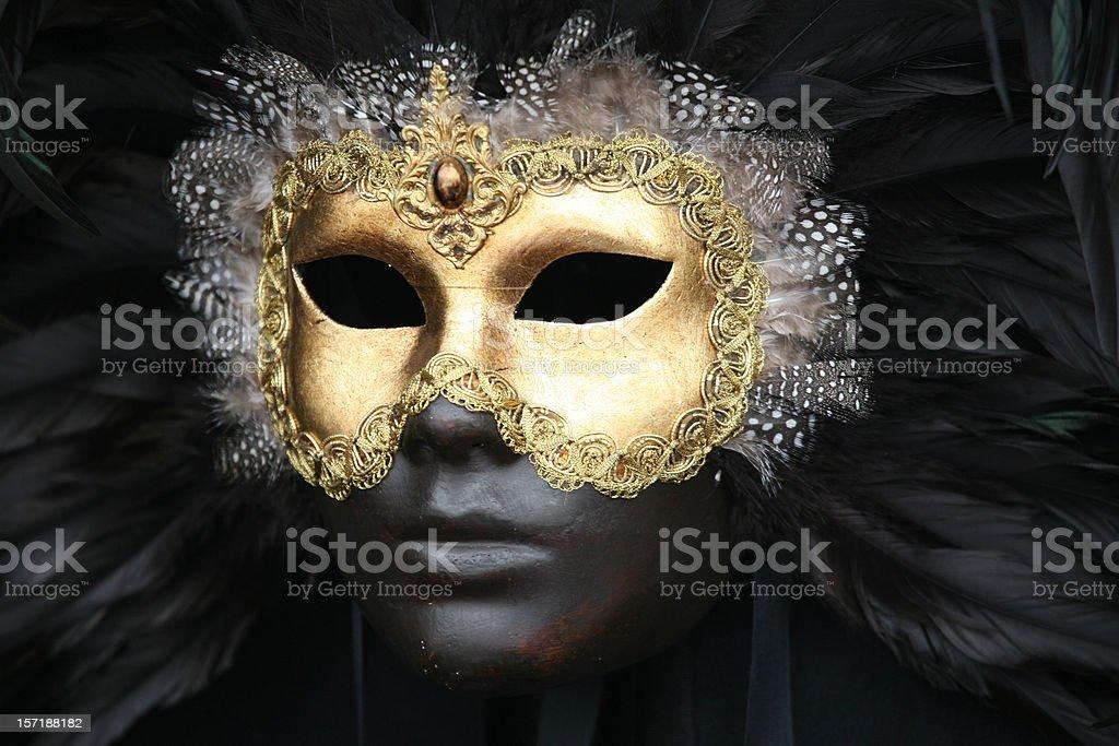 Carnival mask: golden black beauty royalty-free stock photo