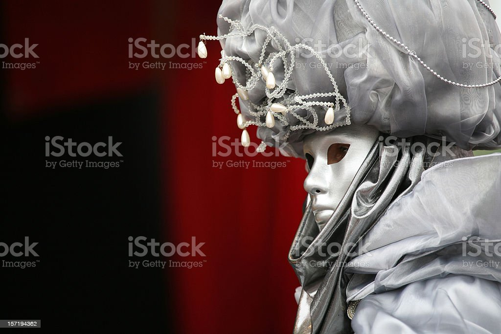 carnival mask: grey royalty-free stock photo