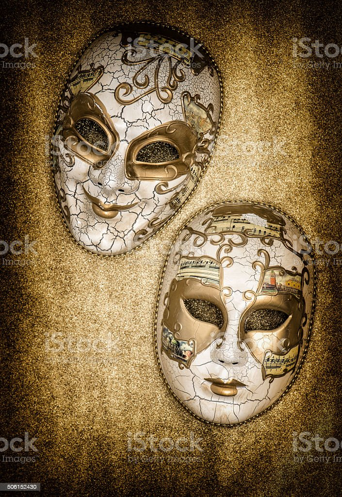 Carnival mask harlequin. Mardi gras. Venetian mask festival stock photo