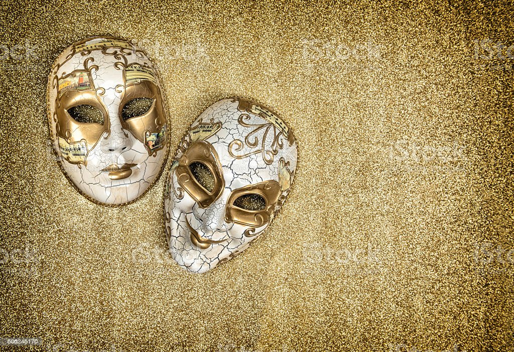 Carnival mask harlequin. Mardi gras. Vintage style stock photo