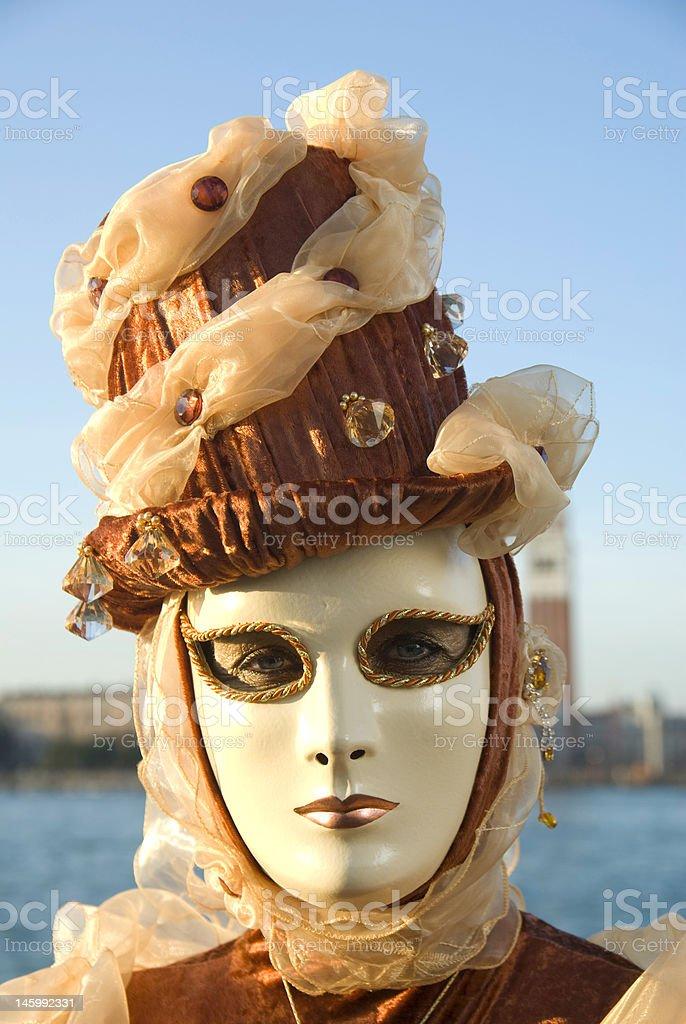 Carnival Mask in Venezia royalty-free stock photo
