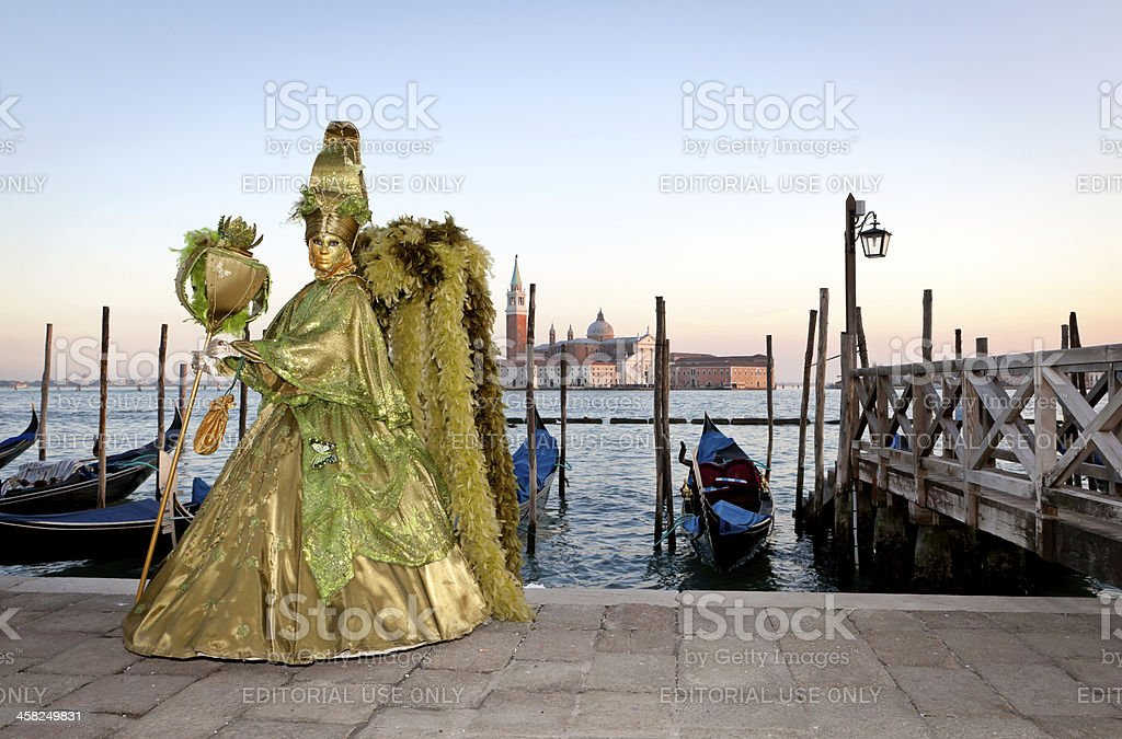 Carnival mask in Venice, Italy royalty-free stock photo