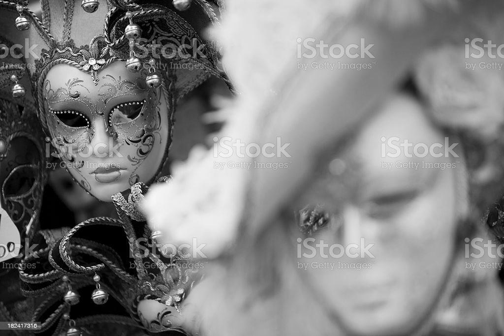 Carnival mask in Venice royalty-free stock photo